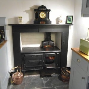 Restored Larbert range and original slate surround