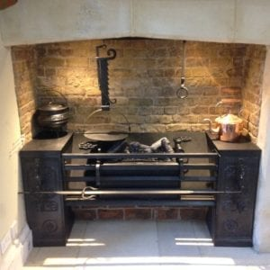 A replica late 18th c roasting grate